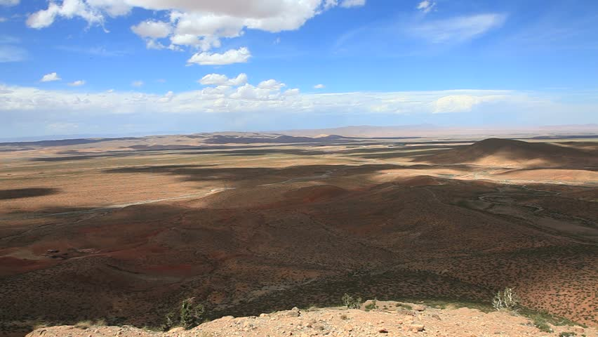Scene at atlas mountain in morocco