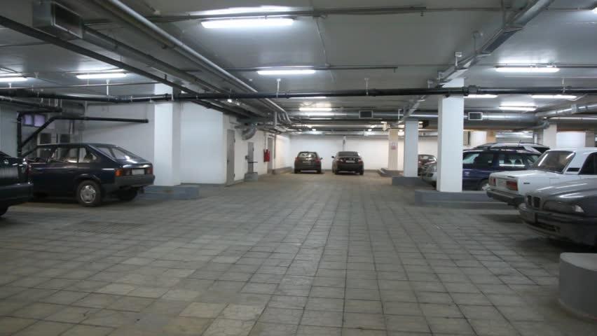 4k Pov Drive Through Underground Parking Garage Real Time