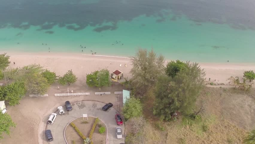 Grand Anse Beach - Bird's-Eye View - HD stock video clip