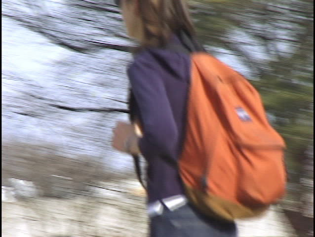 College Campus - clip 2 of 2 - SD stock footage clip
