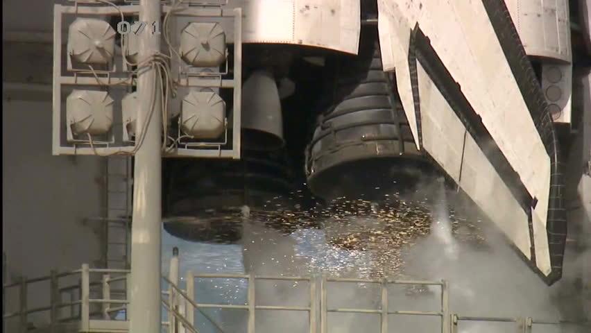CIRCA 2010s - The Space Shuttle Atlantis launches.