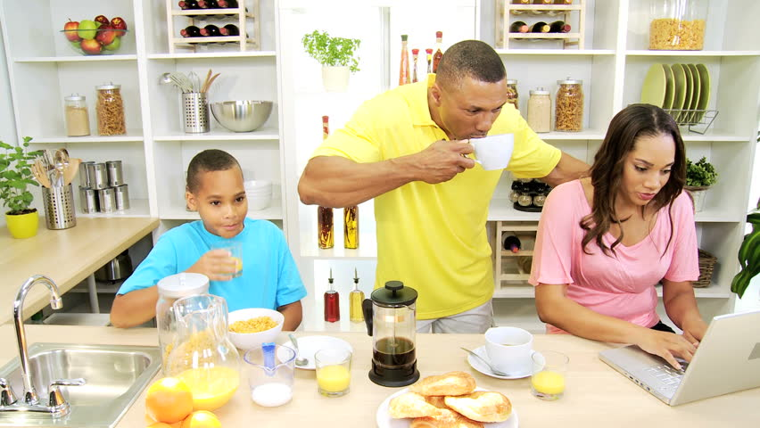 Modern African American Family Lifestyle Using Wireless ...