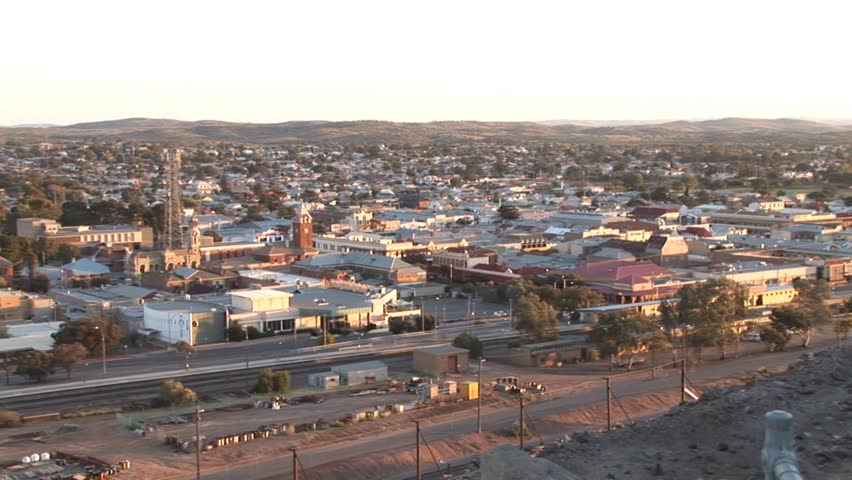 Broken Hill Australia - view from high of town in early morning