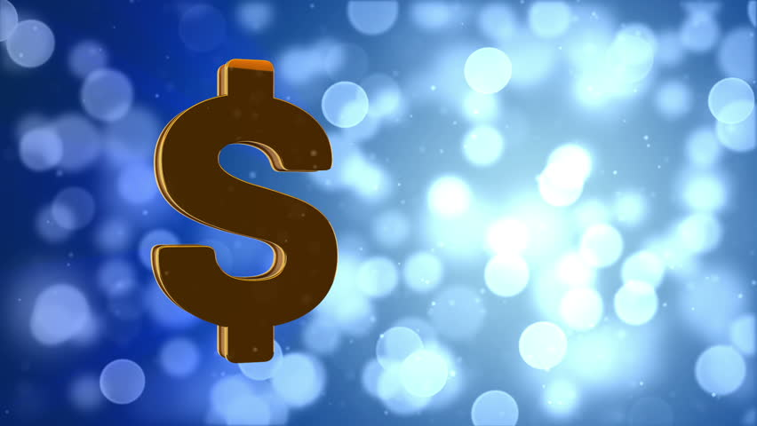 rotating gold dollar sign stock footage video 3673865