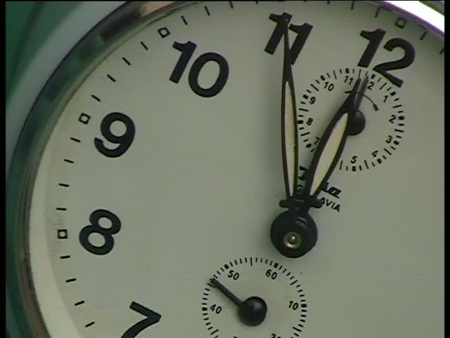 5 minutes to midnight closeup - SD stock video clip
