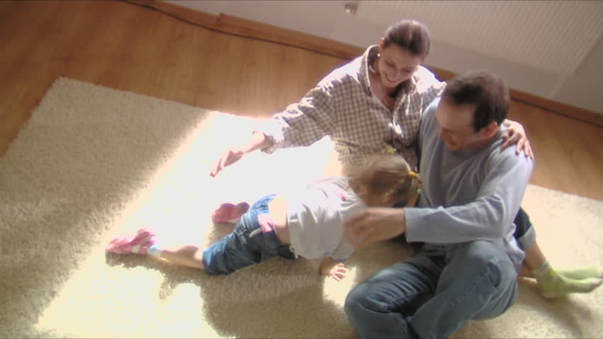 stock video footage happy family moves into a new apartment  - HD stock footage clip