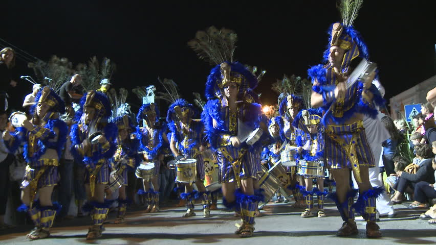 SESIMBRA, PORTUGAL - FEBRUARY 14: Brazilian Carnival event February 14, 2010 in Sesimbra, Portugal  - HD stock video clip
