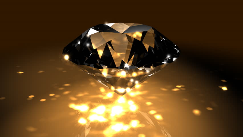 Gold Spinning Shiny Diamond - Diamond 04 (HD) - Motion ... Gold And Diamonds