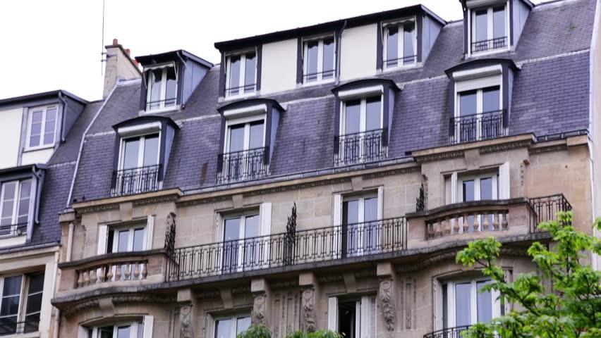 Establishing shot. Apartment building in Paris, France. | Shutterstock HD Video #6710080