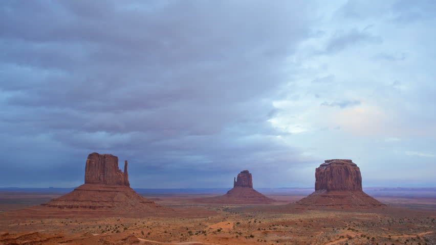 time lapse monument valley mittens cloudscape national park winter desert landscape colorado. Black Bedroom Furniture Sets. Home Design Ideas