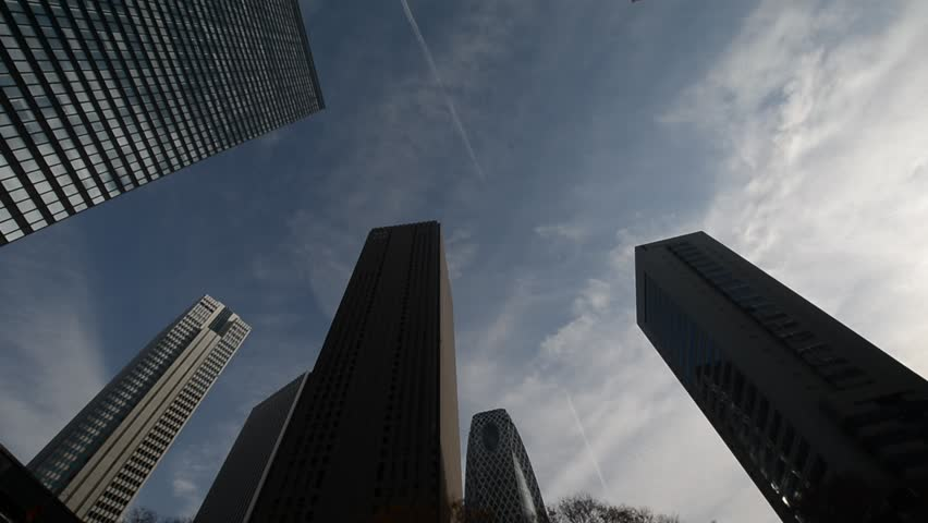 Skyscrapers in Nishi-Shinjuku, Tokyo | Shutterstock HD Video #6717577