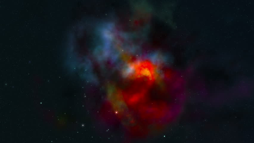 Cosmic Nebula Space Flight. 3D Rendering Of A Space Flight ...