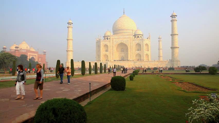 Taj Mahal India Stock Footage Video 2095355