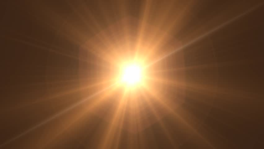 light photo editor glowing sun cgi with lens flare stock footage 874