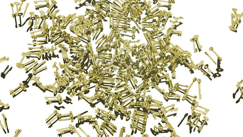 Golden Ornate keys multiply. Comes with the Alpha Matte.