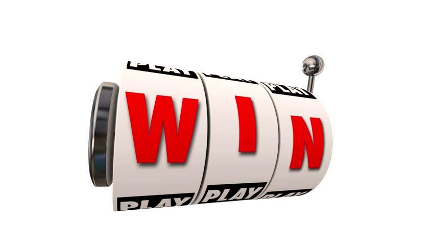 Win Letters Word Slot Machine Wheels Play Casino Gambling Game Big Jackpot | Shutterstock HD Video #6780352