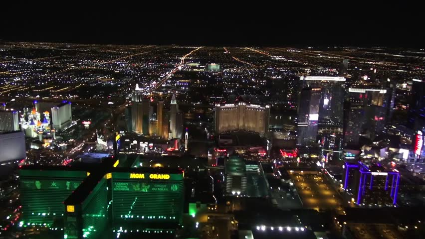 Aerial of South Las Vegas Strip