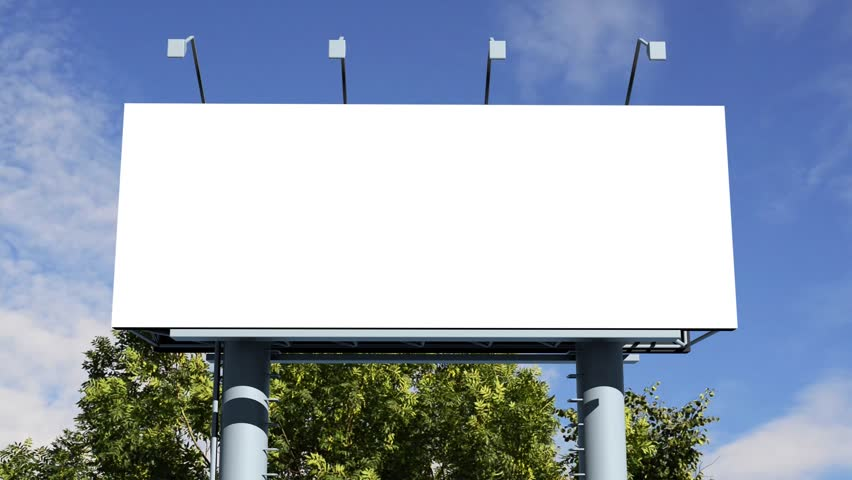 Billboard With Empty Screen Stock Footage Video 6804172