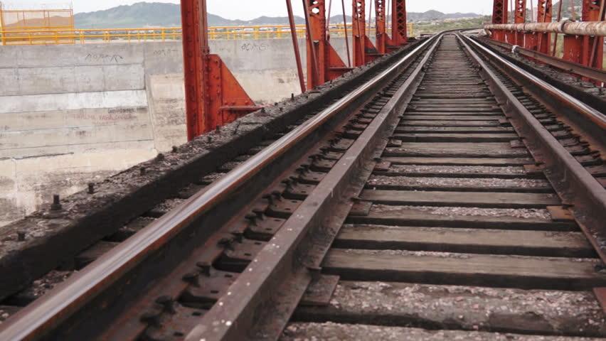 train tracks and orange1 - photo #18