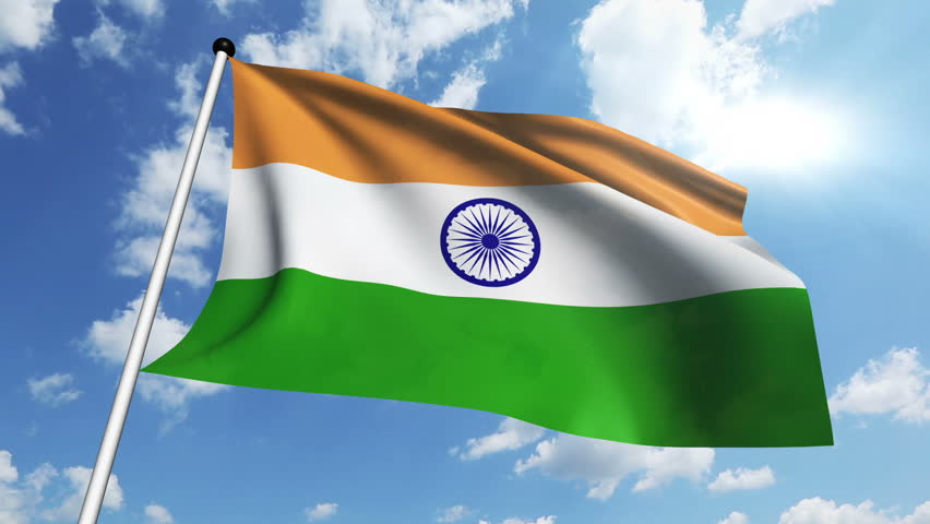 Indian Flag Animated: HD 1080p Clip Of A Slow Motion Waving Flag Of India