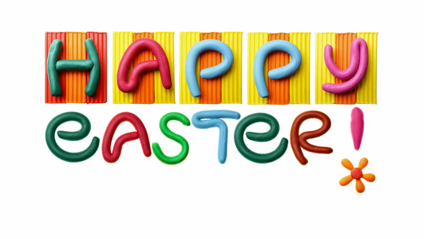 HD animated text Happy Easter! - HD stock video clip