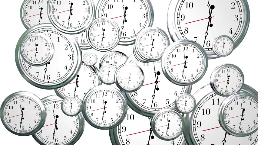 Time Passing Clocks Flying By 3d Background #6845170