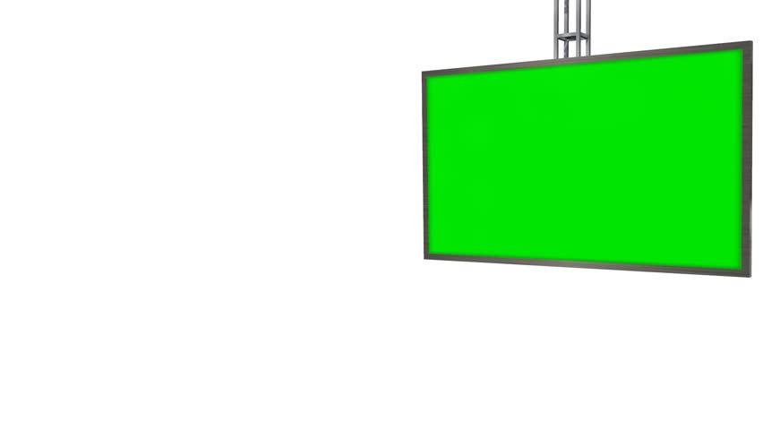 Virtual Studio TV Monitor with green screen animation - HD stock video clip