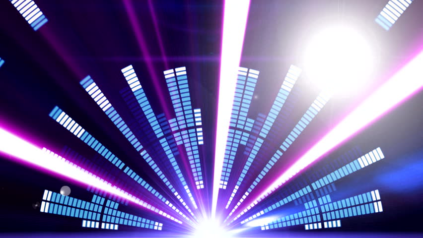 Stage Equalizer with Laser Rays ( Series 8 + Version from 1 to 9 )  | Shutterstock HD Video #6876787