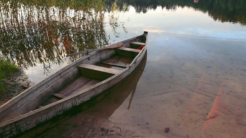 boat on lake - HD stock video clip