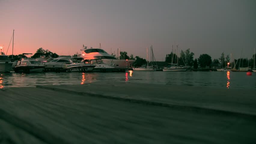 Yacht Club/Moscow Yacht Club/berth - HD stock footage clip