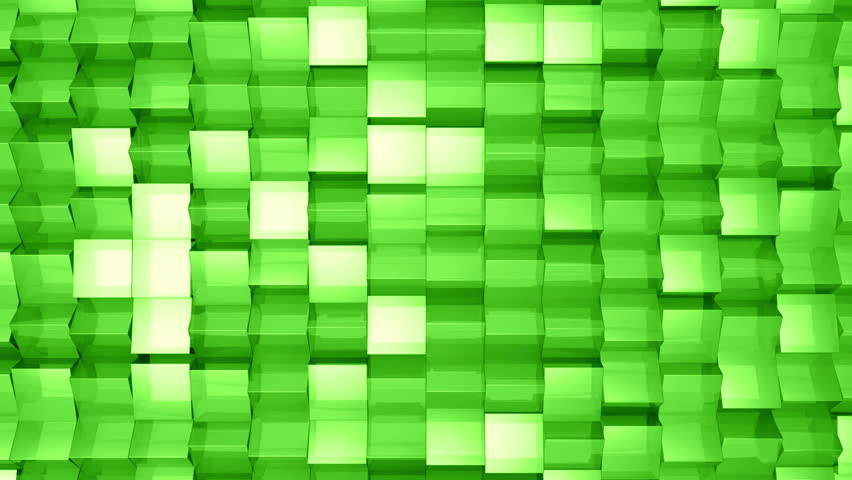 Animated background from glass. Randomly rotation squares from glass. Animation of seamless loop. | Shutterstock HD Video #6906784