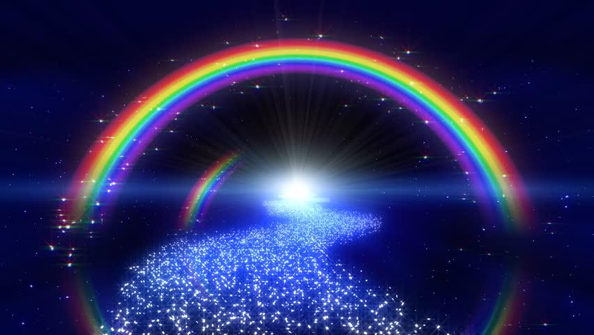 4k rainbow shining space - photo #27