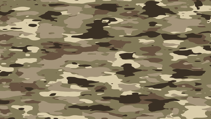 Camouflage Pattern Background Loop In Jungle/forest Camo ...