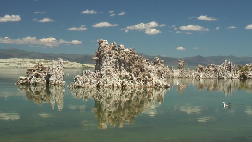 Mono Lake scenery - HD stock footage clip