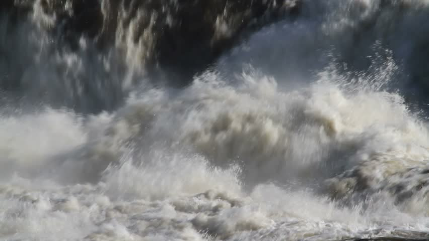 Closeup, Raging river in the wilderness of Northern Maine,