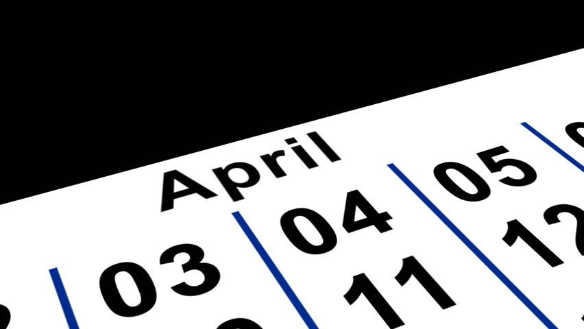 April Fools Calender | Shutterstock HD Video #70285