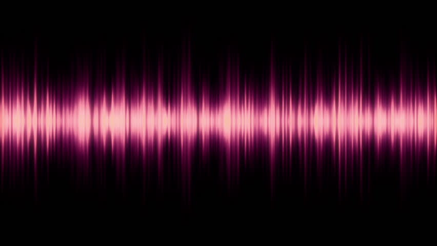 spectrum analyser HD stock footage. A visual display of sound as seen on a sound mixer or amplifier in Purple.