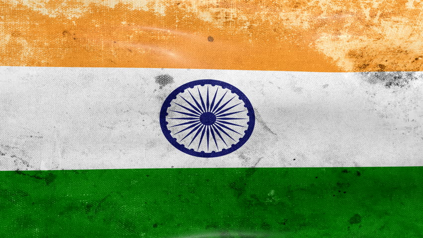 Indian Flag Flying Wallpaper: Stock Footage Video 663292