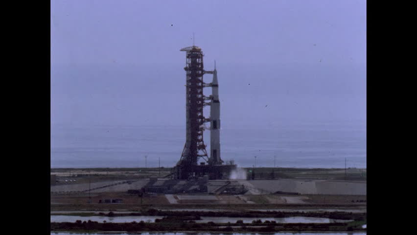 CIRCA 1960s - Apollo 11 launches from Kennedy Space Center Cape Canaveral in 1969. | Shutterstock HD Video #7102102