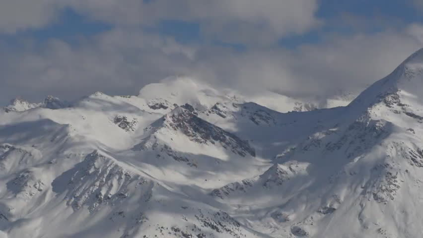 Shot of the snow covered alps of the mountains | Shutterstock HD Video #7112794