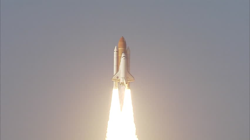 CIRCA 2010s - The Space Shuttle Discovery launches in 2011. Final voyage.