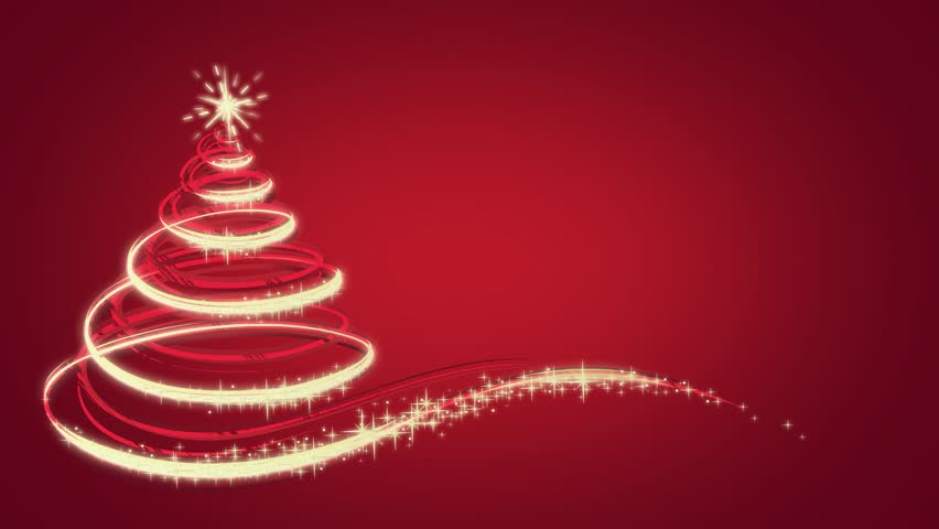 Animated Christmas tree on red