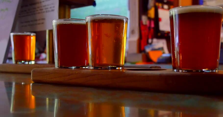 Flight of 5oz Craft Brewery Beer