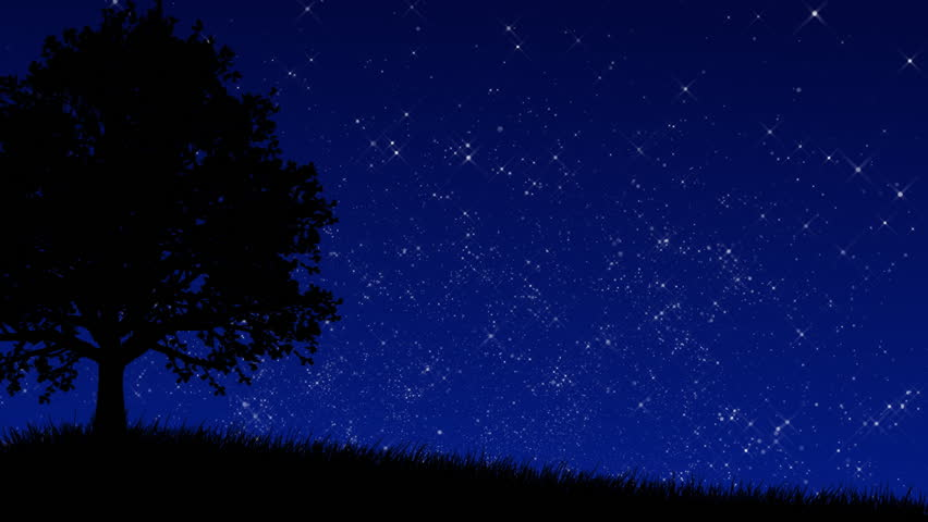 Stars Behind Hill Stock Footage Video 123565 - Shutterstock