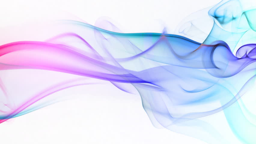 Abstract waving animation background,smoke flowing - HD stock video clip