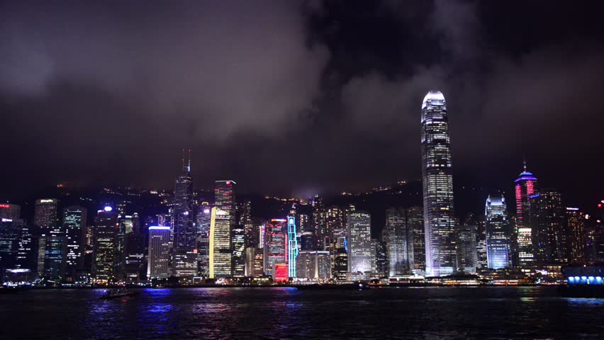 Hong Kong, China city skyline. | Shutterstock HD Video #7191544