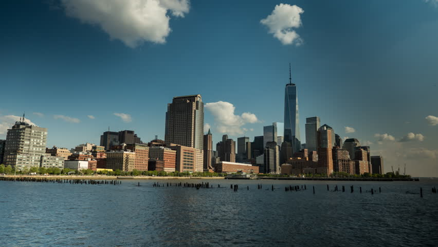 Timelapse of the clouds over downtown Manhattan | Shutterstock HD Video #7198465