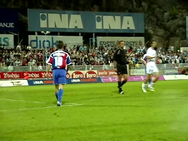 soccer football match between Rijeka - Hajduk, Croatian First Football League (take a look to featured clips in my gallery - penalty kick) please, check for similar clips in my portfolio!