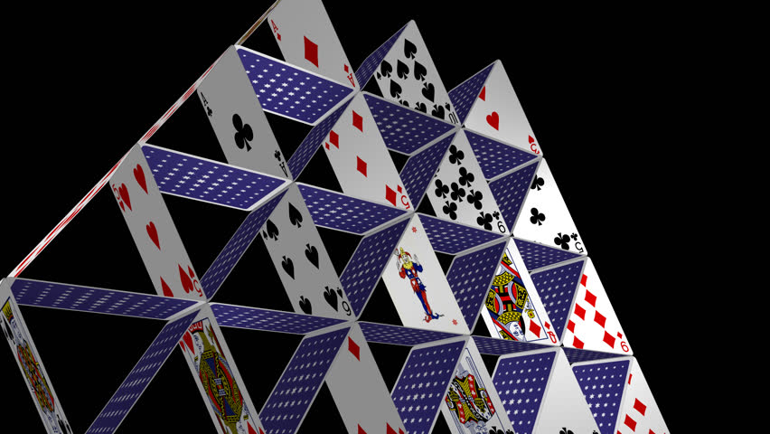 Card House - Spinning Loop - 2 - 30 Fps - House Of Playing ... House Of Playing Cards