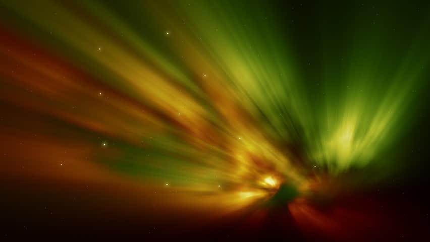 Spectacular Aurora Background Aurora with greenish color HD